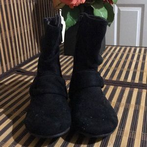 Other - New Boots Toddlers Black Suede Very Cute